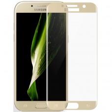 Защитное стекло для Samsung Galaxy A3 (2017) - 5D Full Glue (круглые края)