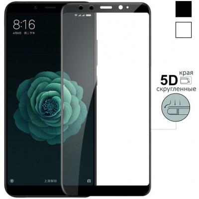 Защитное стекло для Xiaomi Mi 6X - 5D Full Glue (круглые края)