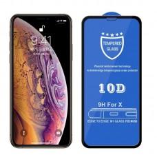 Защитное стекло для iPhone X - 10D Full Glue